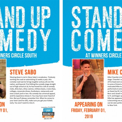 WC-Comedy - Feb 11th, 2018 with Steve Sabo & Mike Charette