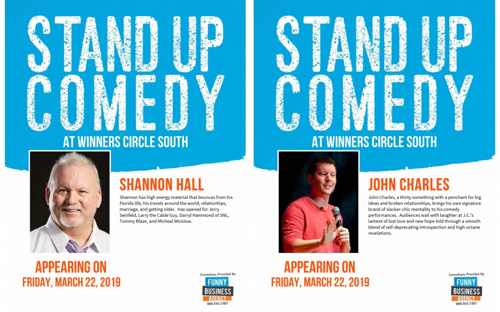 Winners Comedy Night Featuring Shannon Hall and John Charles
