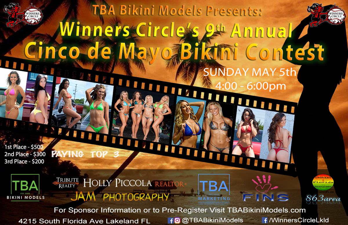 Winners Circle Cinco de Mayo Bikini Contest 2019 - TBA Bikini Models