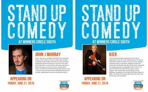 Comedy Flyers - John J Murray & Kier - Winners Circle Sportsbar Lakeland, Florida