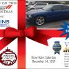 Sat. Dec 14th, 2019 - Fins Dodge Charger Raffle