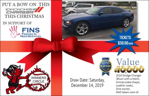 Sat. Dec 14th, 2019 - Fins Dodge Charger Raffle