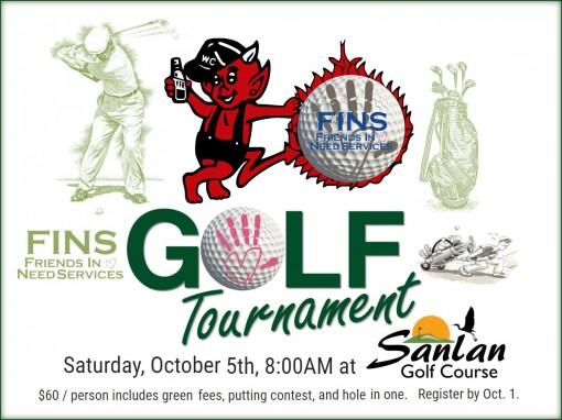Sat. Oct. 5th, 2019 - Fins Charity Golf Tournament