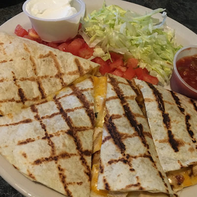 Winners Circle - chicken quesadilla