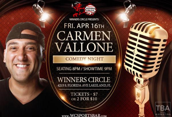 Fri. April 16th, 2021 - Comedy With Carmen Vallone