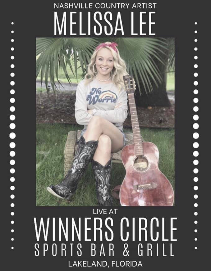 Sat. May 15th - Live music with Melissa Lee (Free Show 5:30pm)